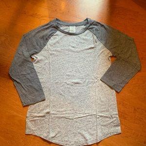 victoria's secret gray long sleeved shirt